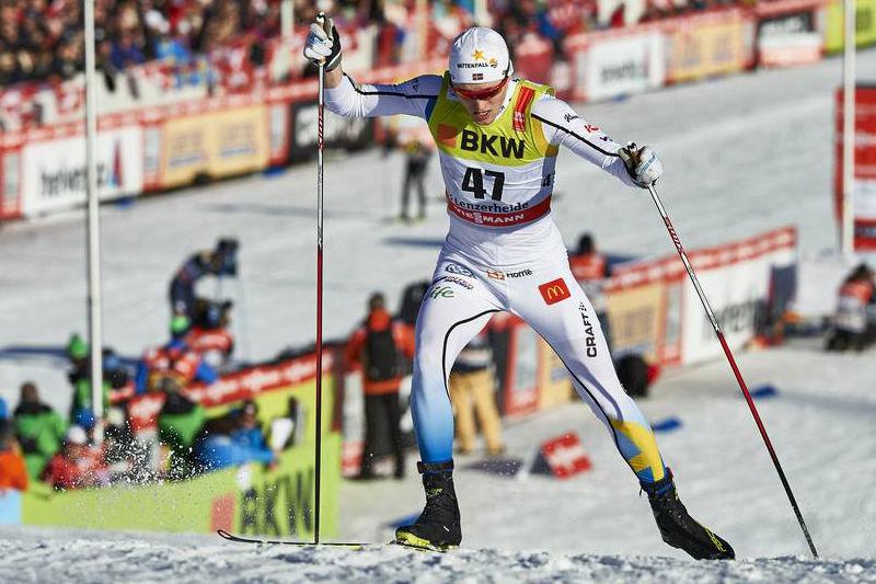 Oskar Svensson var snabbast av de svenska killarna vid prologen i Canmore. FOTO: Felgenhauer/NordicFocus.