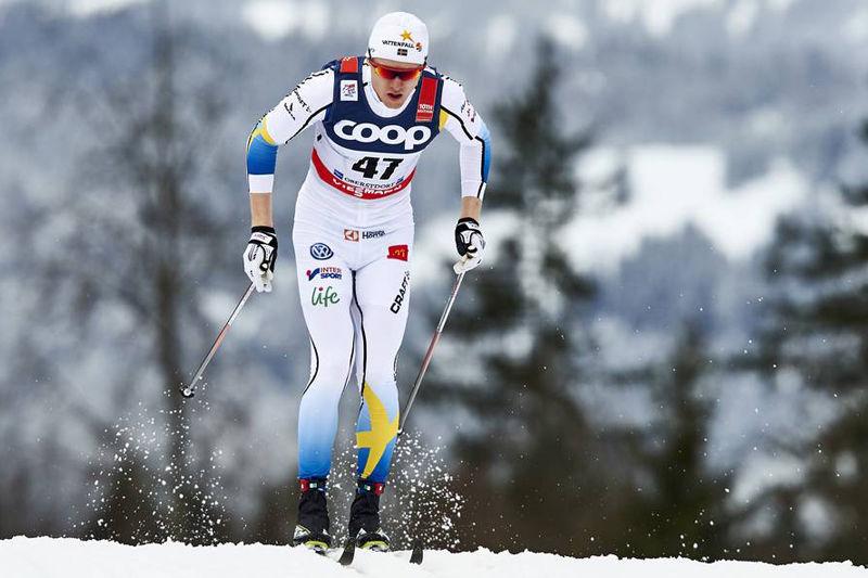 Unge Oskar Svensson fick ett rejält genombrott på seniornivå med sjundeplatsen på Tour de Ski-sprinten i Oberstdorf. FOTO: Felgenhauer/NordicFocus.
