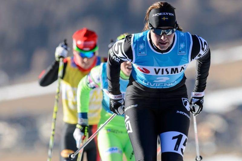 Britta Johansson Norgren soloåkte till seger i Jizerska. Bilden från La Sgambeda. FOTO: Rauschendorfer/NordicFocus.