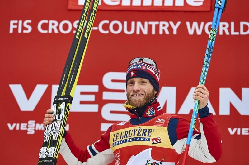 Martin Johnsrud Sundby tog sin tredje raka seger i Tour de Ski, men siktar på fler. FOTO: Felgenhauer/Nordic/Focus.