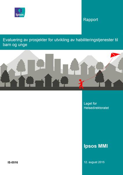 Bilde av forsiden til Evaluering av prosjekter for utvikling av habiliteringstjenester til barn og unge