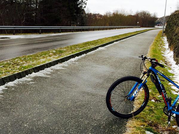 Sykkel på sykkel- og gangsti
