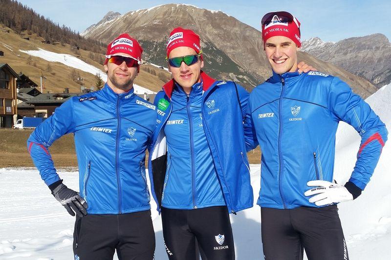 En trio hemmahopp inför Moraloppet på lördag. David Frisk, Anders Solin och Andreas Holmberg. FOTO: IFK Mora SK.