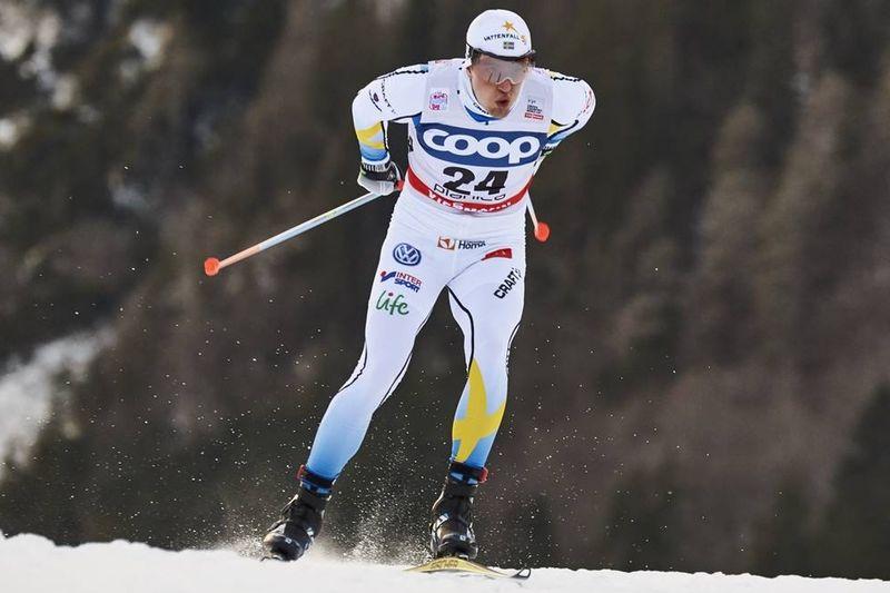 Calle Halfvarsson under sprintprologen i Planica. Dagen slutade med en tiondeplats för Calle i comebacken i världscupen. FOTO: Felgenhauer/NordicFocus.