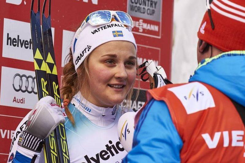 Efter dagens seger vid sprinten i Planica är Stina Nilsson i ledning av sprintvärldscupen. FOTO: Felgenhauer/NordicFocus.