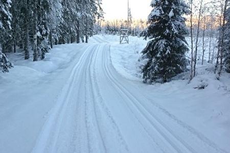 Det är fina snöförhållanden i Mullsjötrakten och Stråkenloppet avgörs på en 14 kilometers slinga. FOTO: Mullsjö SOK.