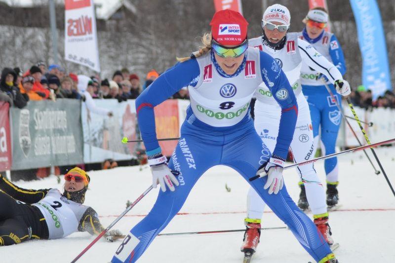 Stina Nilsson står över SM-tävlingarna i Piteå. FOTO: IFK Mora SK.