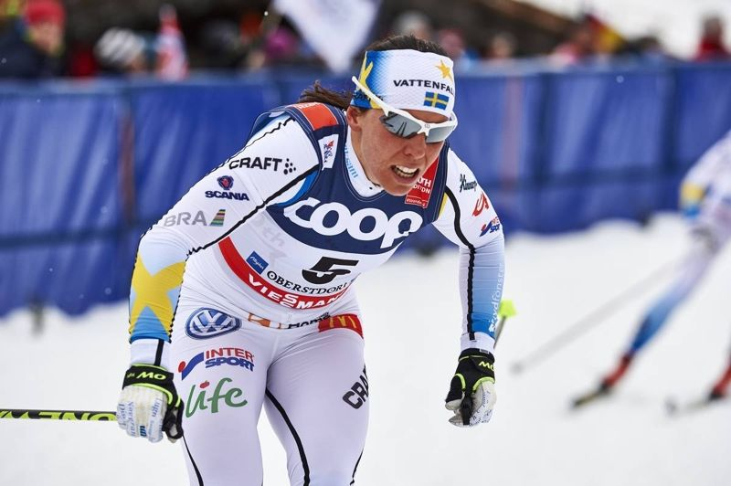 Charlotte Kalla ligger fyra både totalt i världscupen och i distanscupen inför helgen tävlingar i Nove Mesto, Tjeckien. FOTO: Felgenhauer/NordicFocus.