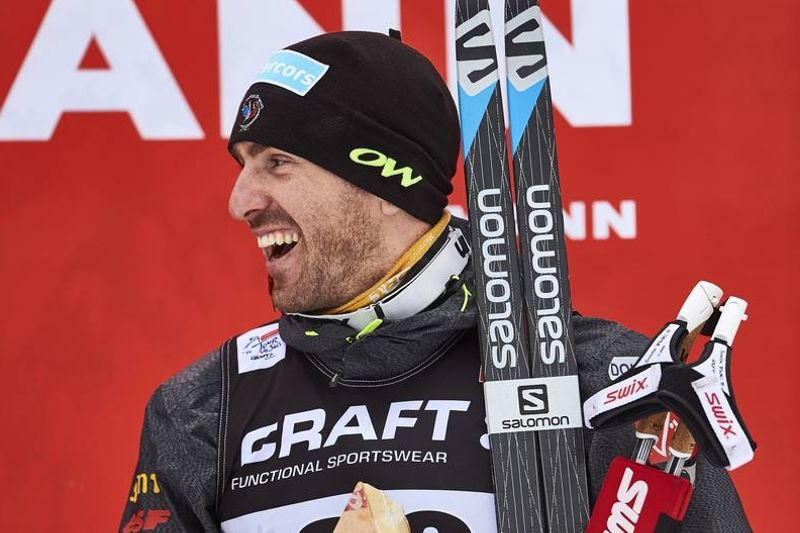 Maurice Manificat var tio sekunder snabbare än vinterns suverän Martin Johnsrud Sundby och vann i Nove Mesto. FOTO: Felgenhauer/NordicFocus.
