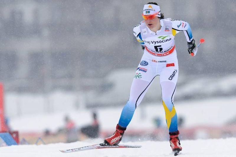 Marika Sundin åkte sista sträckan för Sverige som slutade femma. FOTO: Rauschendorfer/NordicFocus.