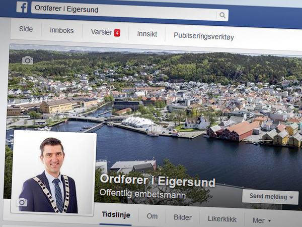 Ordfører Odd Stangeland på Facebook