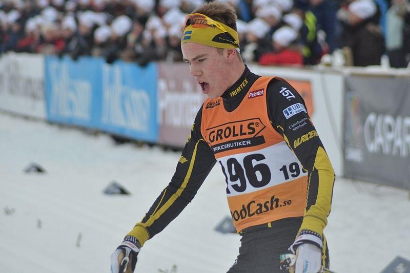 Viktor Thorn var förkrossande överlägsen i H 19-20 på JSM skiathlonen på onsdagseftermiddagen. FOTO: Johan Trygg/Längd.se.
