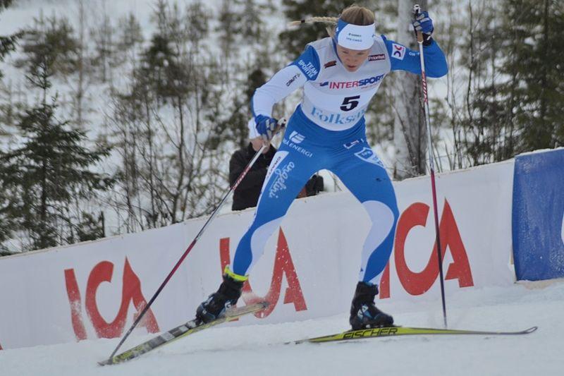 Jonna Sundling åkte in som 13:e på U23-VM:s 10 km skejt. FOTO: Johan Trygg/Längd.se.