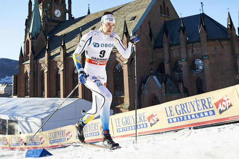 Teodor Peterson hade vässat formen från SM i Piteå och slutade femma i Drammen, efter fyra norrmän. FOTO: NordicFocus.