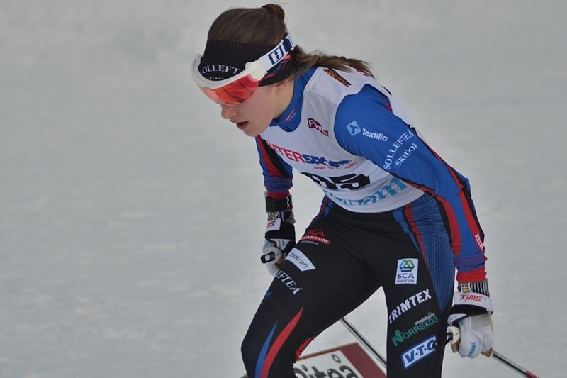 Ebba Andersson vann Fjälltopploppet i överlägsen stil, minuten före Anna Haag. FOTO: Johan Trygg/Längd.se.