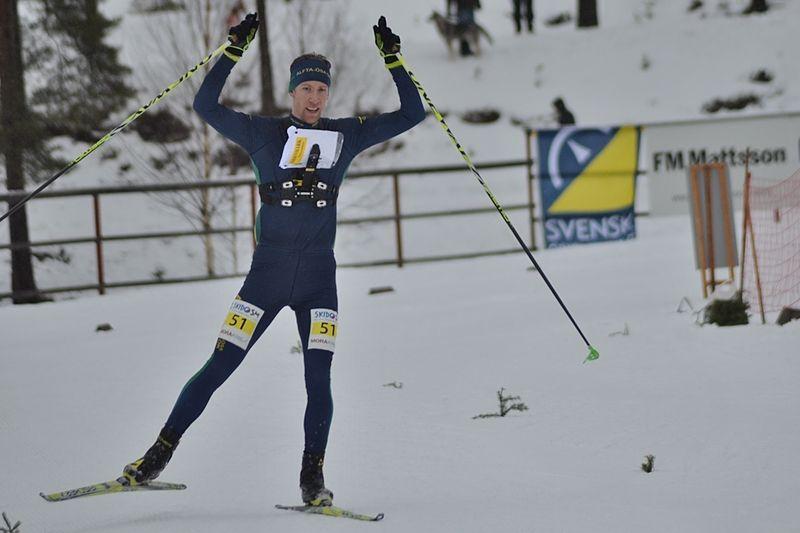 Erik Rost vann skidorienterarnas SM på medeldistans med masstart med klar marginal. FOTO: Johan Trygg/Längd.se.