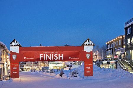 Målgången för Årefjällsloppet blir på Åre Torg. FOTO: Årefjällsloppet.