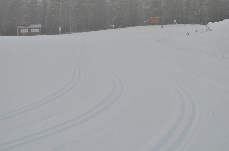 Mycket snö och fina spår väntar alla 1200 deltagare på Orsa Grönklitt Ski Marathon i morgon lördag. FOTO: Johan Trygg/Längd.se.