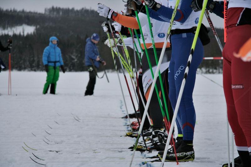 Klart för start i Bessmerloppet 21 februari. Loppet som alltid går två veckor före Vasaloppet. FOTO: Adam Backlund, Högbo GIF.