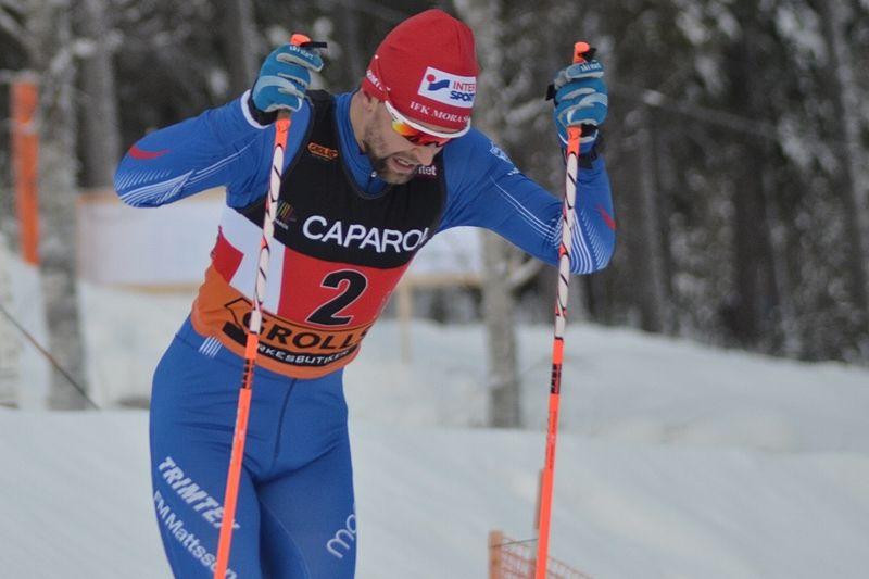 David Frisk soloåkte till seger i Västgötaloppet. Här är David under SM i Piteå. FOTO: Johan Trygg/Längd.se