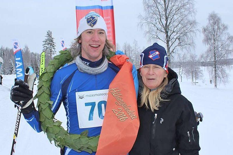 Johannes Ainegren vann Hälsingeleden fem sekunder före Ronnie Löf. FOTO: Hälsingeleden.