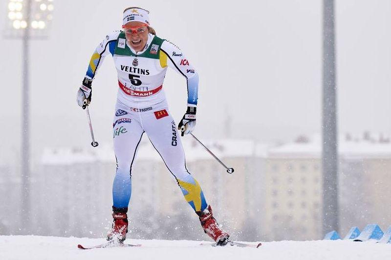 Hanna Falk var bäst bland de svenska åkarna med en sjätteplats i Lahtis idag. FOTO: Felgenhauer/NordicFocus.