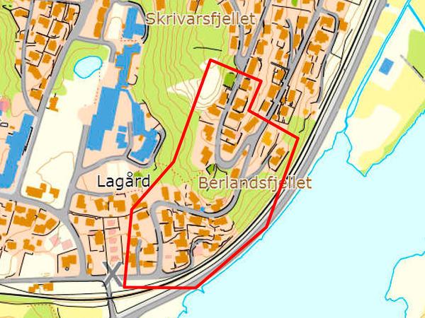 Kart over Skrivarsfjellet