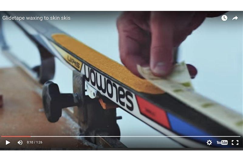 Glid-tejp på dina skin-skidor ger både bättre glid och fäste i ett moment. FOTO: Video Optiwax.