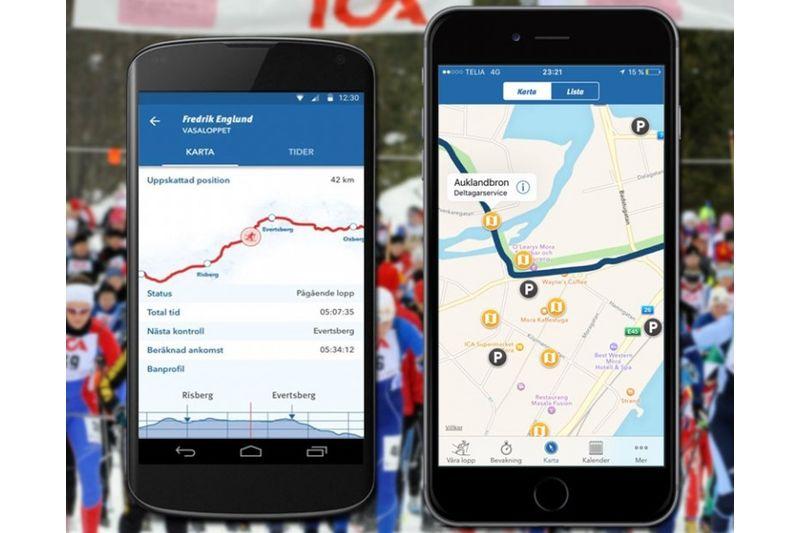 Med Vasaloppets nya app, Vasaloppet vinter 2016, kan du följa dina kompisar i spåret. FOTO: Vasaloppet.