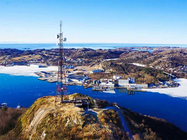 Flyfoto over Varberg