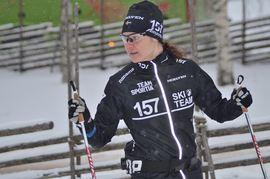 Britta Johansson Norgren har haft en toppensäsong så här långt. Men vinterns huvudmål är på söndag. FOTO: Johan Trygg/Längd.se.