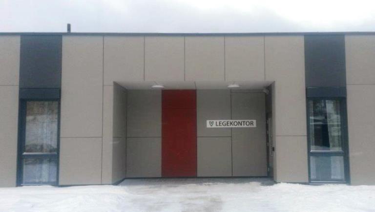 Nye Tretten legekontor, inngang