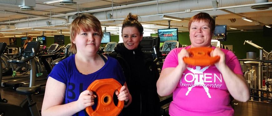 Bilde av deltakere på et treningssenter