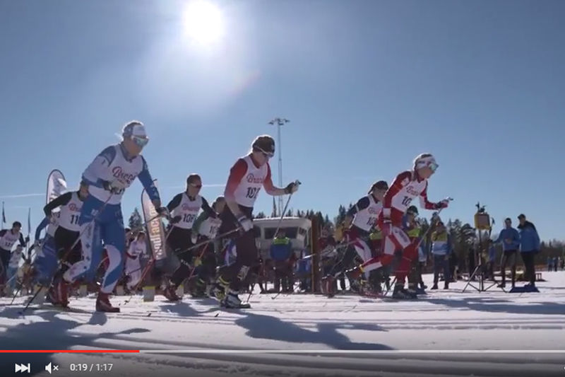 Kolla in filmen från JSM skiathlon D 19-20. FOTO: Video SK Bore/JSM Torsby.