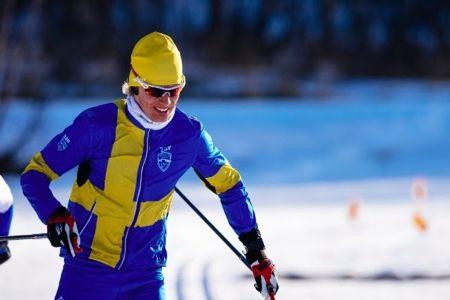 Erik stakar på mot världsrekordet som han klarade med 2,9 kilometers marginal. FOTO: Årefjällsloppet.