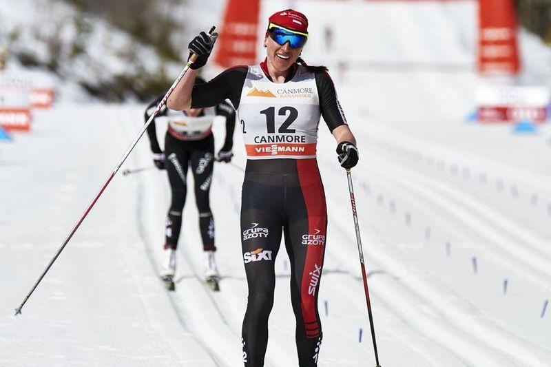 Justyna Kowalczyk vann Årefjällsloppet närmast före Seriaina Boner. Bilder från världscupen i Canmore för några veckor sedan. FOTO: Felgenhauer/NordicFocus.