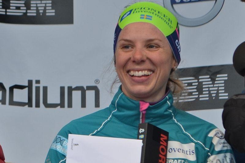 Lina Korsgren imponerade på Nordeskiöldsloppet och vann tio sekunder före Britta Johansson Norgren efter 20 mils åkning. Bilden från Vasaloppet där Lina var trea. FOTO: Johan Trygg/Längd.se.