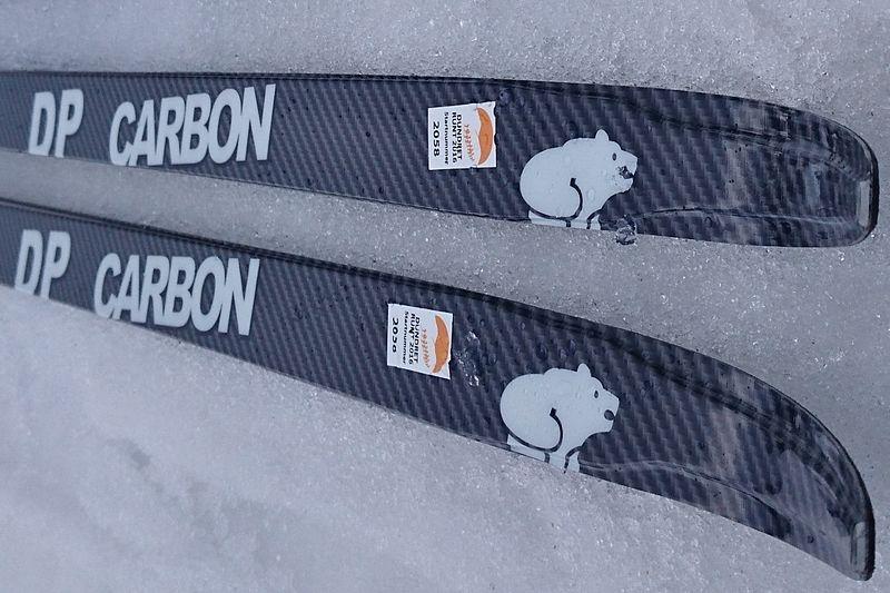 Stakskidan DP Carbon har redan väckt uppmärksamhet. DP står för double pole. Skidan är ett samarbete mellan Elpex och Karhu. Till nästa säsong finns skidan i butik. FOTO: Elpex.