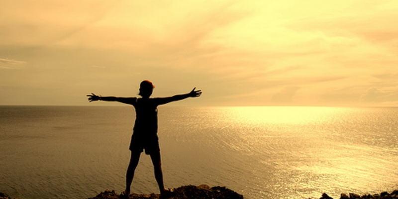 Person som føler seg fri