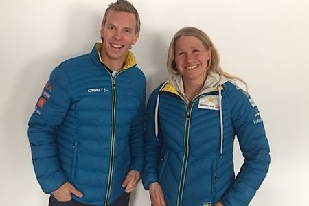 Fredrik Uusitalo blir ny tränare för utvecklingslaget och Martina Höök fortsätter som tränare för juniorlandslaget kommande säsong. FOTO: Svenska Skidförbundet.