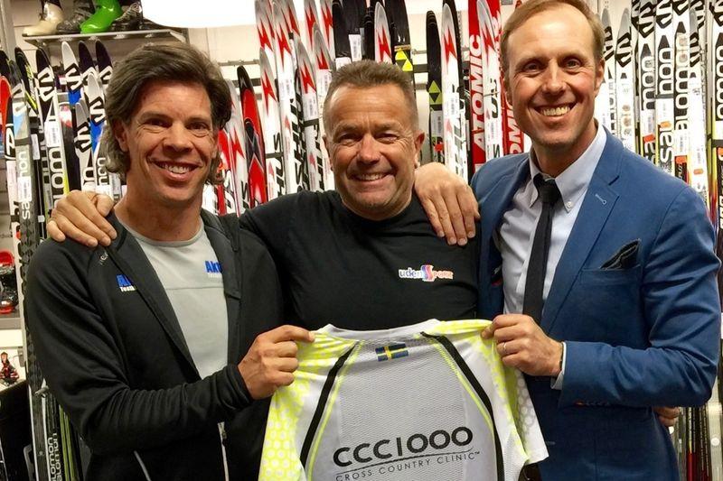 Fredrik Erixon (till höger), grundare av CCC1000, tillsammansmed Aktivitus Magnus Andersson Frånlund och Udéns Sports Anders Lehrman.
