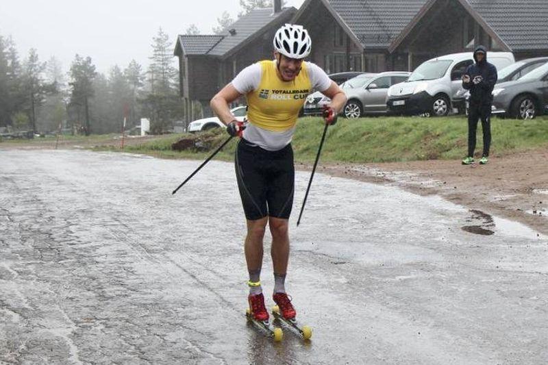 Åsarnas Marcus Ruus vann i dagarna två på Hovfjället. FOTO: Aron Eriksson, NWT.