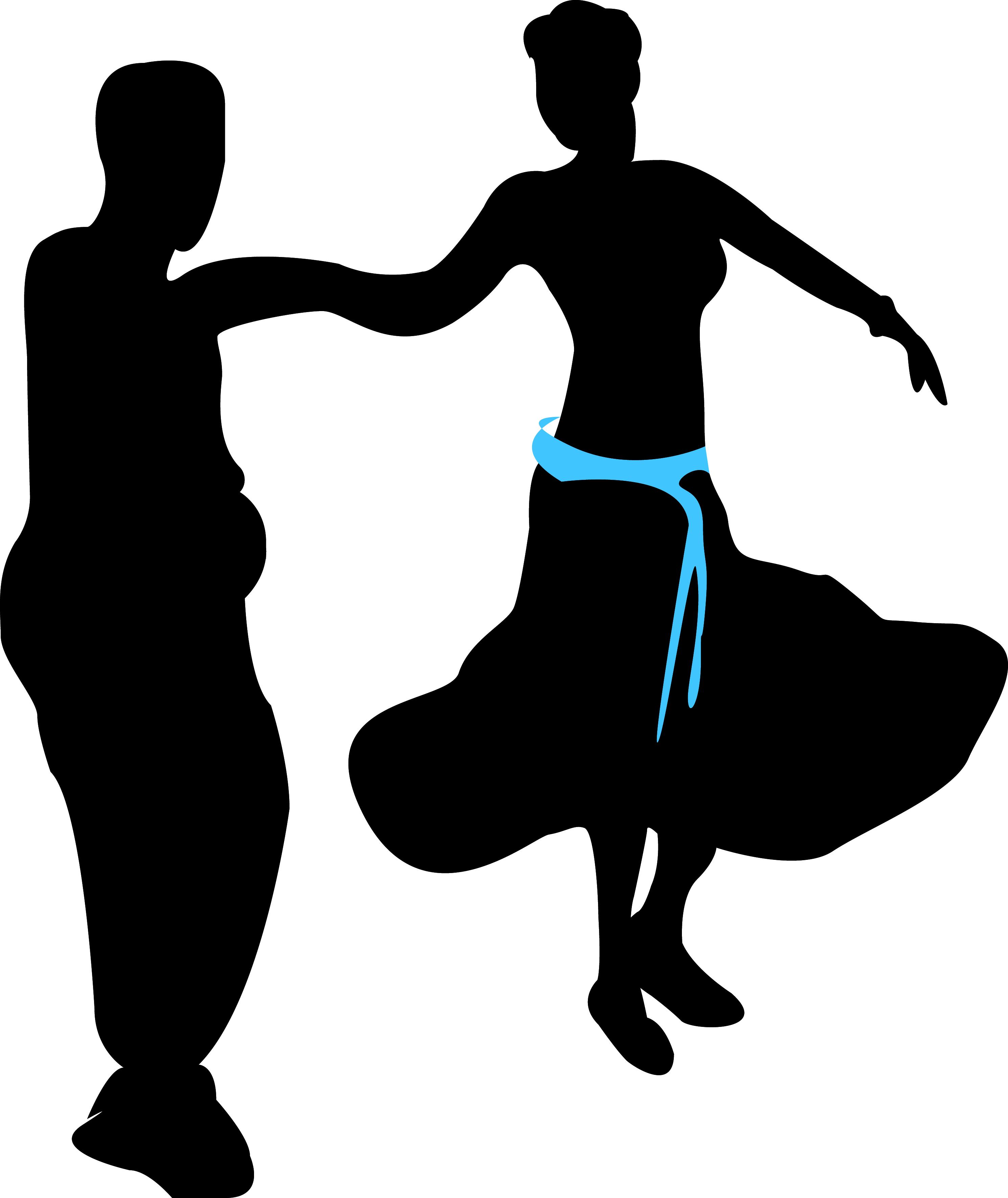 Illustrasjon av et par som danser