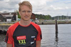 Jens Eriksson med vintern i sikte efter förra årets olyckliga cykelkrasch som innebar brott både på hand och fot. FOTO: Johan Trygg/Längd.se.