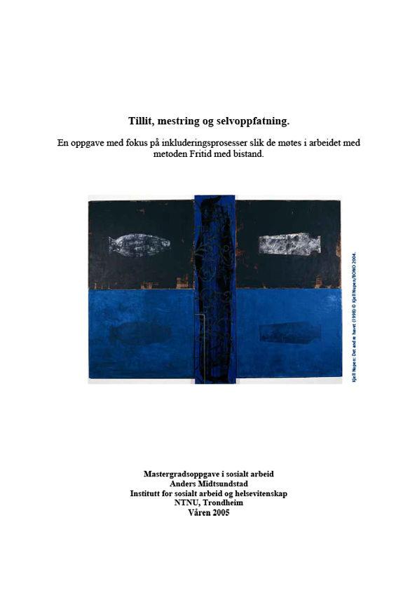 Bilde av omslaget til Masteroppgaven tillit, mestring og selvoppfatting