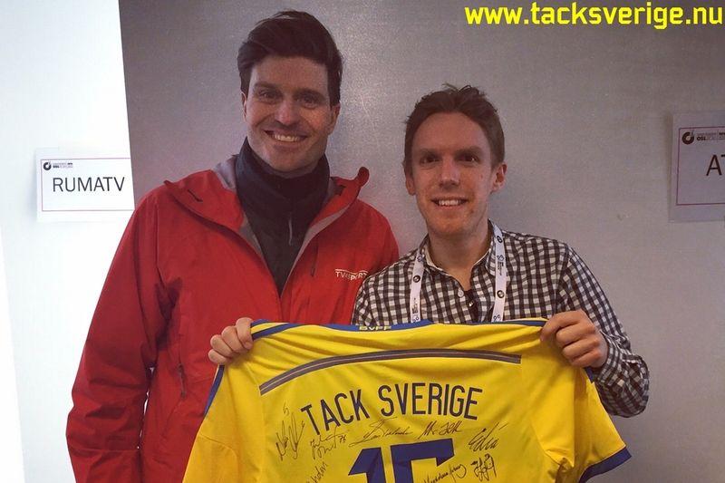 I senaste avsnittet av podcasten Tack Sverige intervjuas förre skidskytten David Ekholm. FOTO: Tack Sverige.