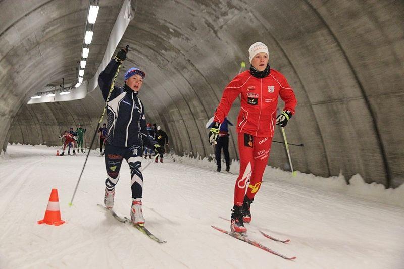 Två pass i Torsby skidtunnel finns på programmet under träningshelgen som Torsby idrottsgymnasium håller första helgen i oktober. FOTO: Leif Skogsberg.
