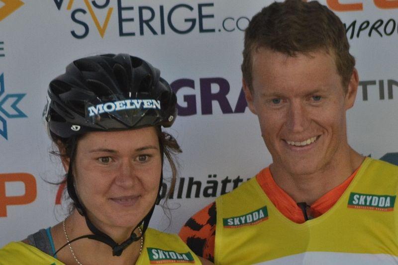 Britta Johansson Norgren och Petter Eliassen leder rullskidserien World Classic Tour som avslutas med Olaf Skoglunds Minnelöp i Norge till helgen. FOTO: Längd.se.
