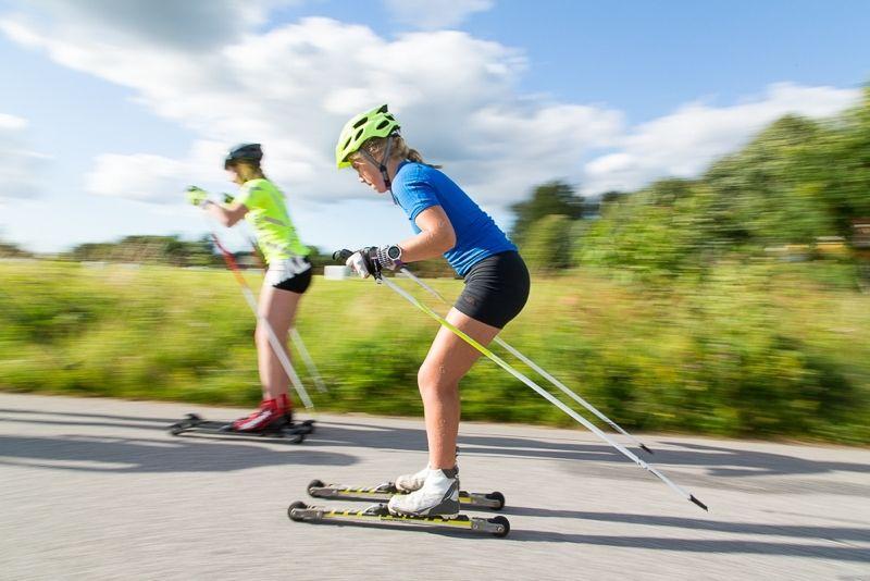 17-18 september är det rullskidtävlingar i dagarna två vid Billingen i Skövde. Tufft backrace på lördagen och långlopp på söndagen. FOTO: Tomas Jakobson.