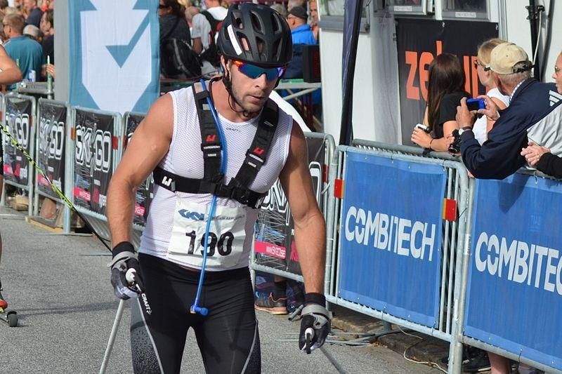 Bob Impola åkte in som sjua på åtta mil långa  Olaf Skoglunds Minnelöp. Bilden från Alliansloppet. FOTO: Johan Trygg/Längd.se.